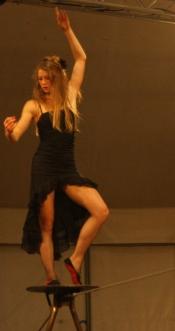 flamenc'a fil de fer equilibre echassiers spectacle parade animation cirque evenementiel (10)
