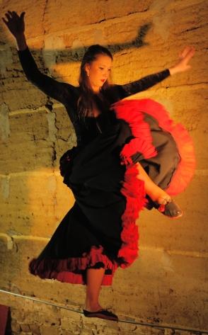 flamenc'a fil de fer equilibre echassiers spectacle parade animation cirque evenementiel (2)