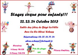 stage cirque 22.23.24 octobre
