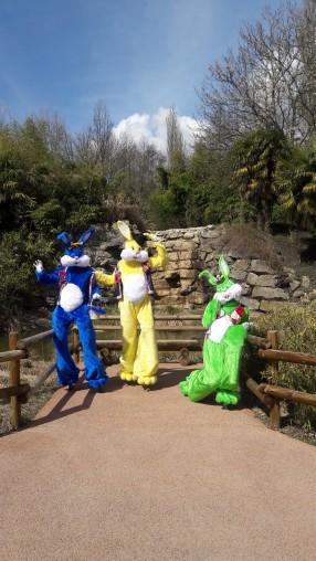 Lapinous' Foufous echassiers rebondissants loufoques parade animation evenementiel lapins fantaisie extravagance sautillants mascottes paques (18)
