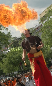 4 elements echassiers eau terre air feu sirene elfe maya cracheur de feu parade animation spectacle carnaval magique colores (13)