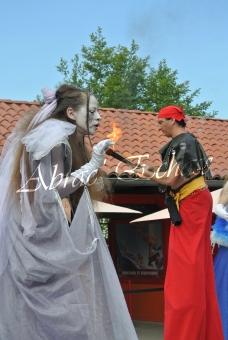 4 elements echassiers eau terre air feu sirene elfe maya cracheur de feu parade animation spectacle carnaval magique colores (28)