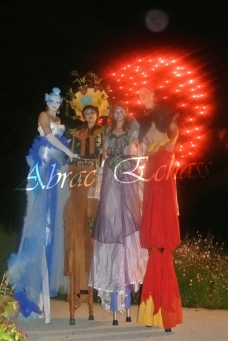 4 elements echassiers eau terre air feu sirene elfe maya cracheur de feu parade animation spectacle carnaval magique colores (37)