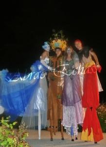 4 elements echassiers eau terre air feu sirene elfe maya cracheur de feu parade animation spectacle carnaval magique colores (38)