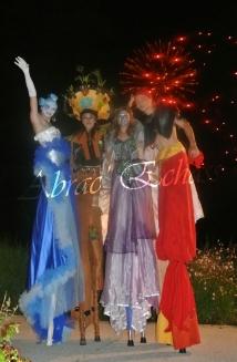 4 elements echassiers eau terre air feu sirene elfe maya cracheur de feu parade animation spectacle carnaval magique colores (39)