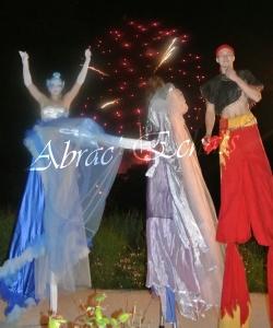 4 elements echassiers eau terre air feu sirene elfe maya cracheur de feu parade animation spectacle carnaval magique colores (41)