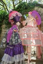 bulles de bonheur echassier parade colores festifs carnaval grandiose crinolines bulles de savon rose girly kawai (1)