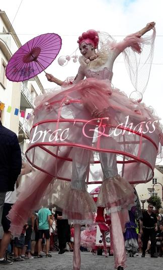 bulles de bonheur echassier parade colores festifs carnaval grandiose crinolines bulles de savon rose girly kawai (10)