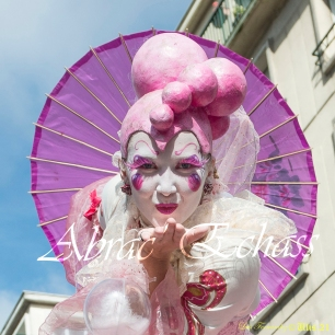 bulles de bonheur echassier parade colores festifs carnaval grandiose crinolines bulles de savon rose girly kawai (12)