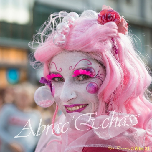 bulles de bonheur echassier parade colores festifs carnaval grandiose crinolines bulles de savon rose girly kawai (13)