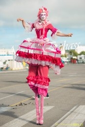 bulles de bonheur echassier parade colores festifs carnaval grandiose crinolines bulles de savon rose girly kawai (16)