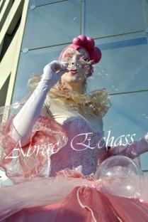 bulles de bonheur echassier parade colores festifs carnaval grandiose crinolines bulles de savon rose girly kawai (20)