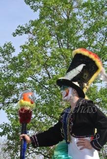 clowns en ciel echassiers colores oiseaux fleurs festifs parade animation carnaval evenementiel bulles de savon danse chapeau vertigineux froufro (107)