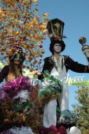 clowns en ciel echassiers colores oiseaux fleurs festifs parade animation carnaval evenementiel bulles de savon danse chapeau vertigineux froufro (66)