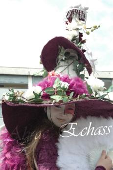 clowns en ciel echassiers colores oiseaux fleurs festifs parade animation carnaval evenementiel bulles de savon danse chapeau vertigineux froufrous g (2)