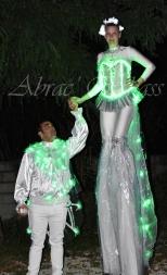Diphylleia, echassiers, transparents, lumineux, leds, evenementiel, poetique (3)