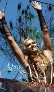 echass et toiles echassiers dali femme paon plumes de paon crinoline parade animation evenementiel grandiose magnifiques (8)
