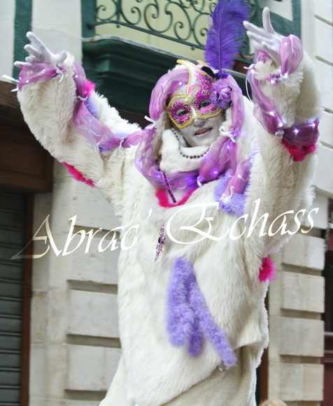 echass neige echassiers lumineux leds hiver fourrures colores parade noel marches noel animation char a neige musical magique feerique (34)