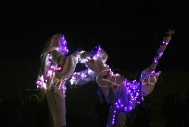 echass neige echassiers lumineux leds hiver fourrures colores parade noel marches noel animation char a neige musical magique feerique (56)