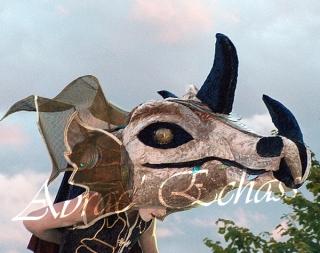 le songe de loeridis echassiers feeriques contes et merveilles spectacle fantastique parade animation elfes fees dragon loup echasses poes (19)