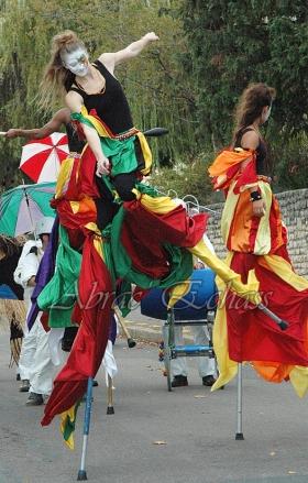 saltimbanques echassiers parade animation fous du roi colores festifs jongleurs acrobates (11)