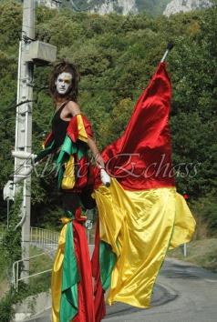 saltimbanques echassiers parade animation fous du roi colores festifs jongleurs acrobates (21)