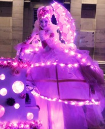 bulles echassiers rose lumineux parade noel illuminations (21)